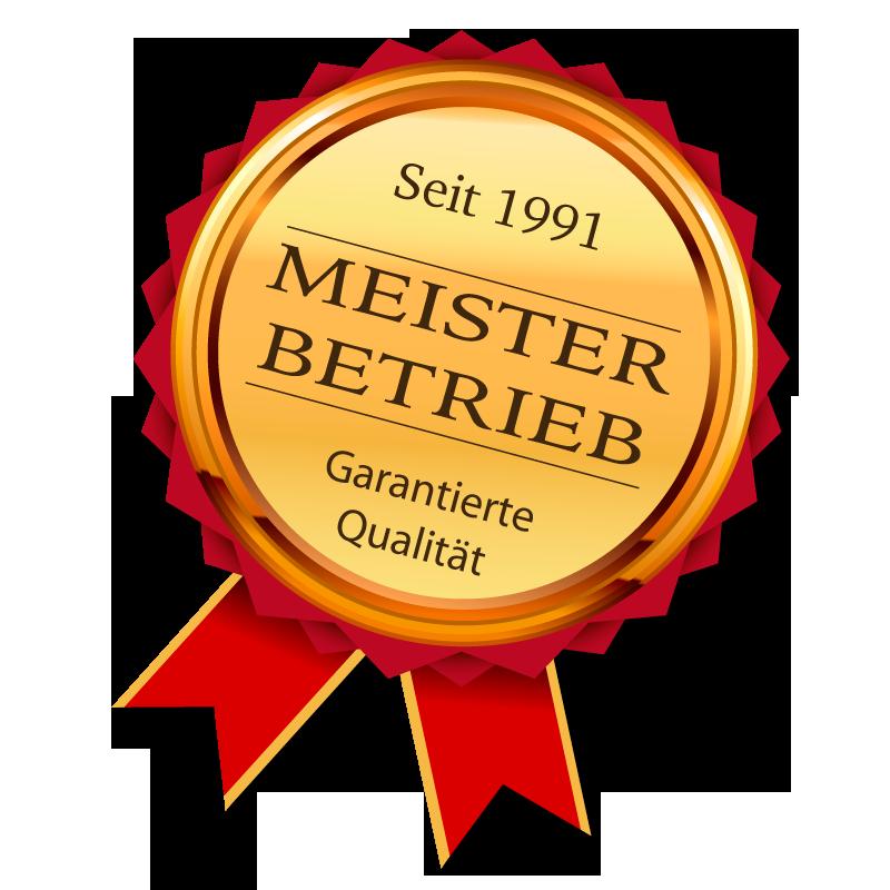 Siegel Meisterbetrieb Putzbären Gebäudereinigung für garantierte Qualität seit 1991